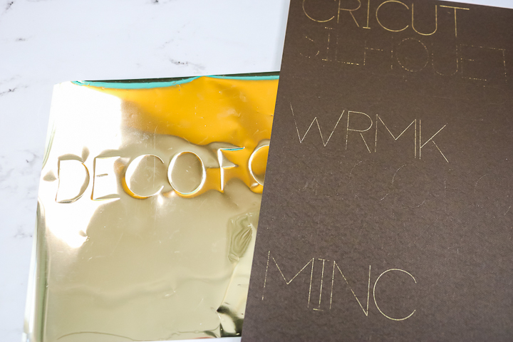 using decofoil with the cricut