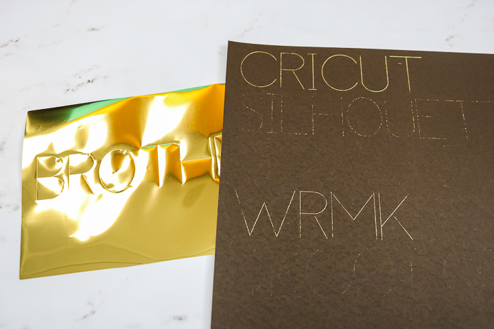 using brother foil with a cricut