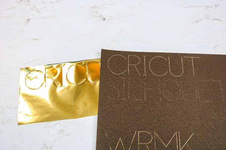 using the cricut foil transfer tool