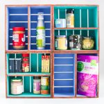 DIY Cabinet Organizer from Wood Crates