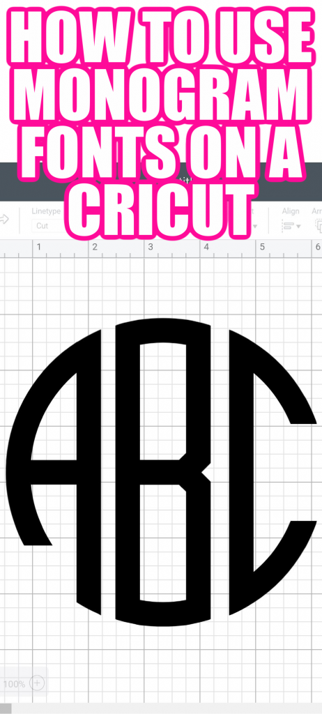 Learn how to use monogram fonts on your Cricut and get some links to some fonts to download and use for your projects! #monogram #cricut #cricutmonogram