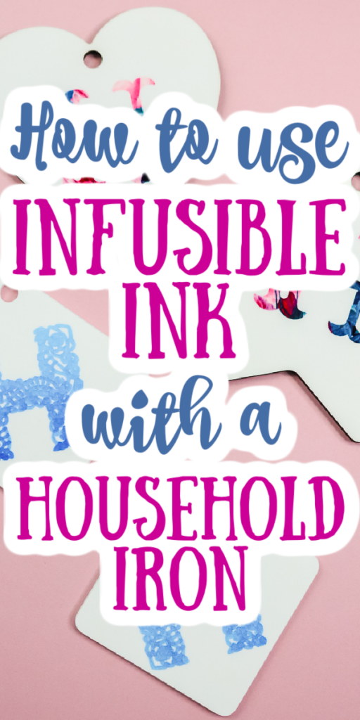 Can you do sublimation with an iron? Will Infusible Ink work with an iron? We are showing you how to use your iron for these projects! #cricut #cricutmade #infusibleink #sublimation