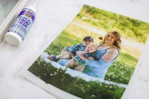 photo printed on vellum