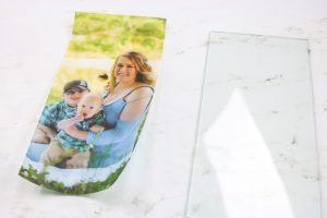 adding a photo to a glass lantern
