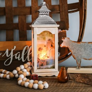 glowing lantern with picture