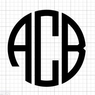 round monogram on a Cricut