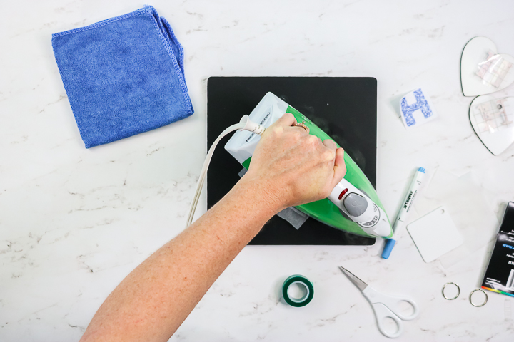 using an iron for sublimation