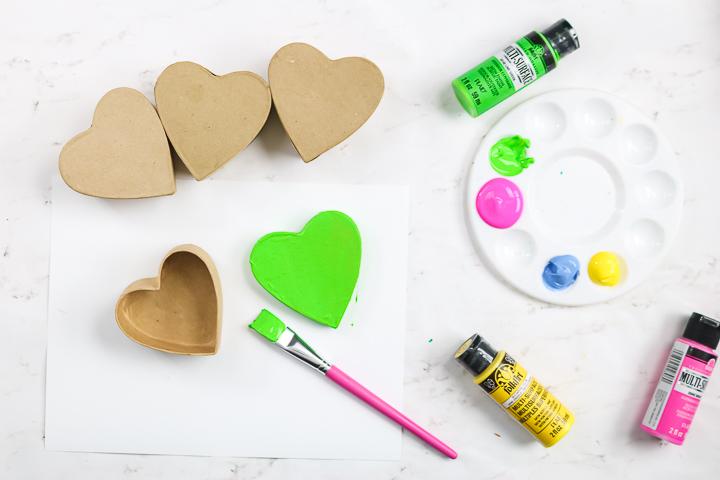 painting paper mache boxes
