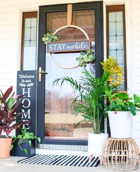 farmhouse style front porch decor