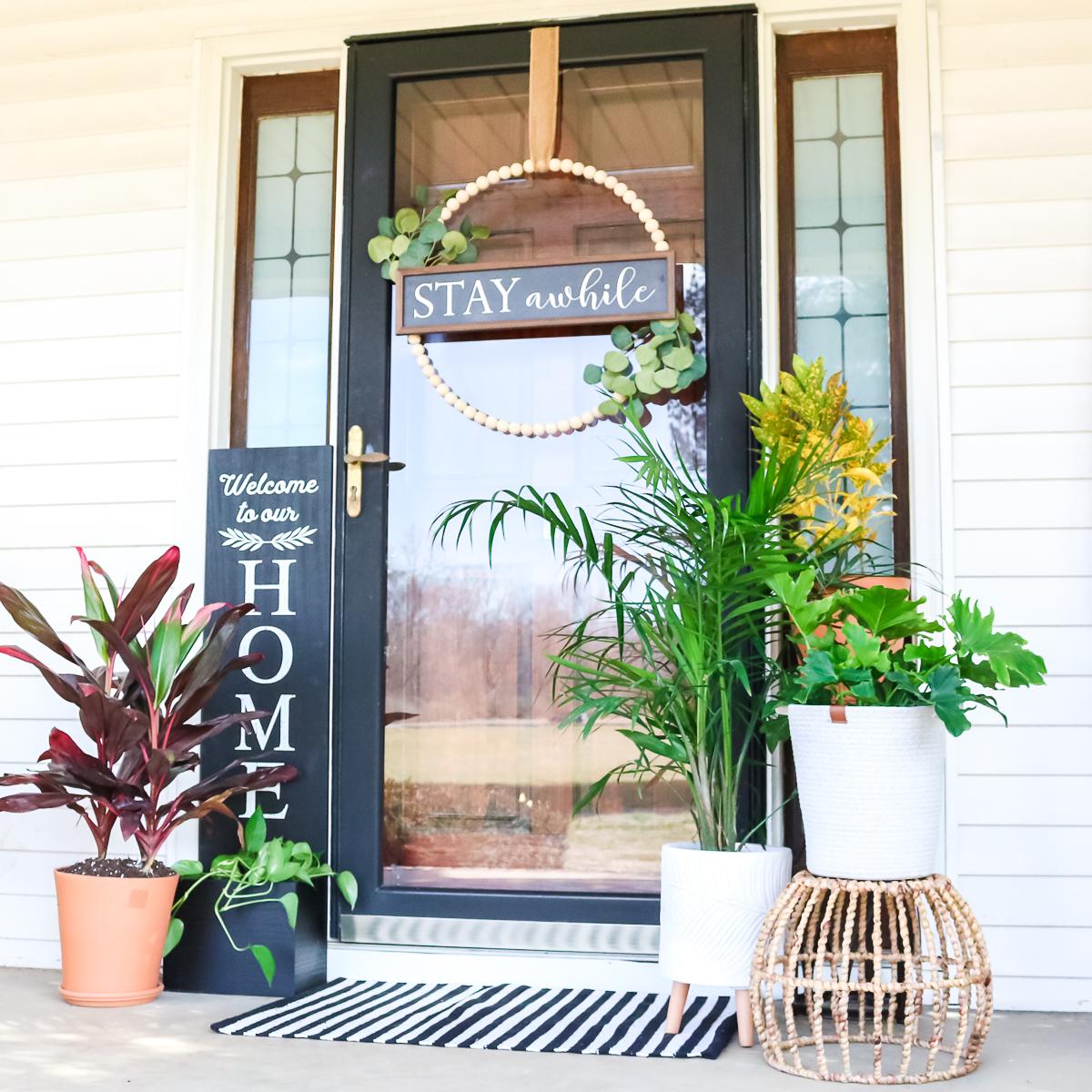 farmhouse style front porch decor