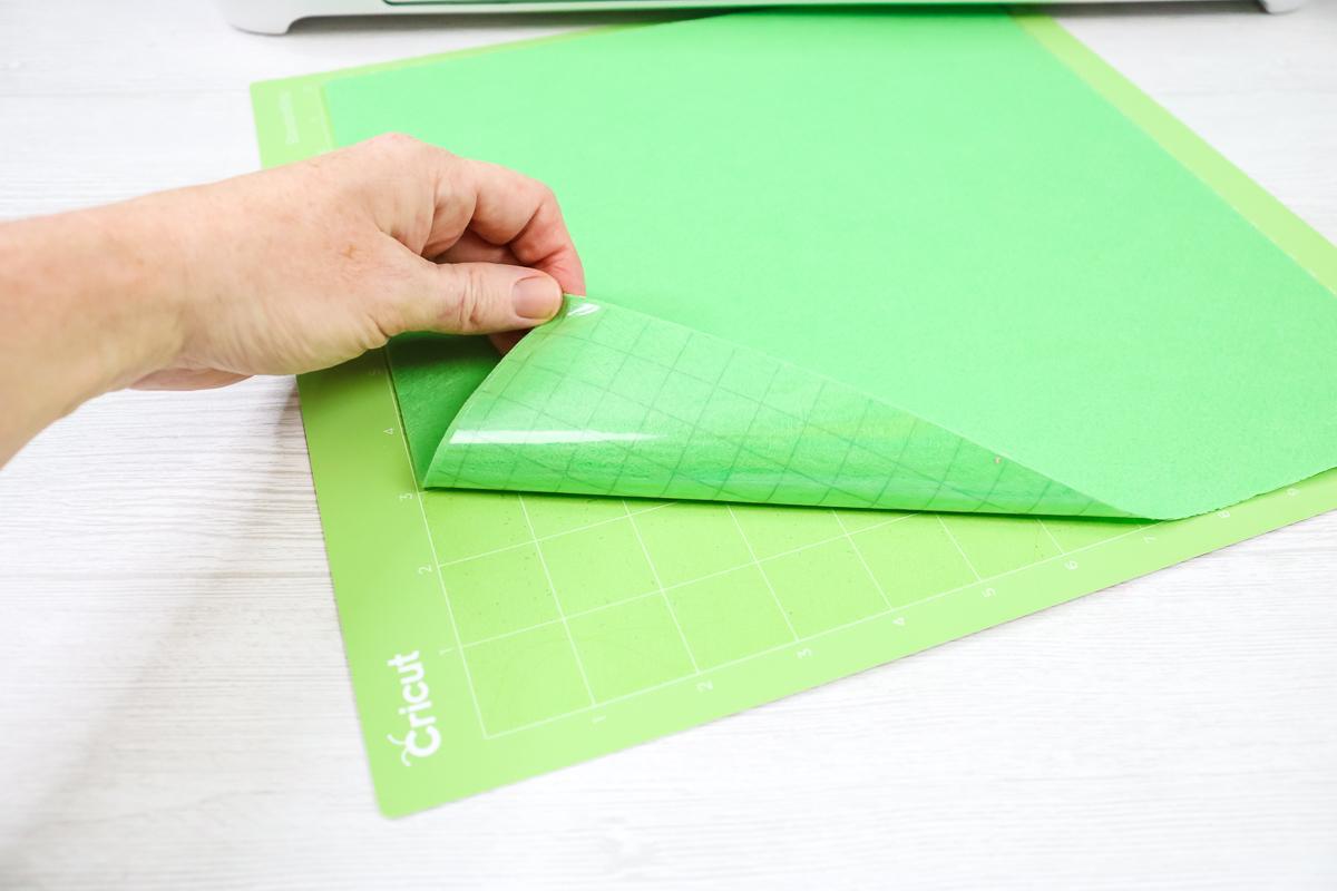 hack for putting felt on a cricut mat