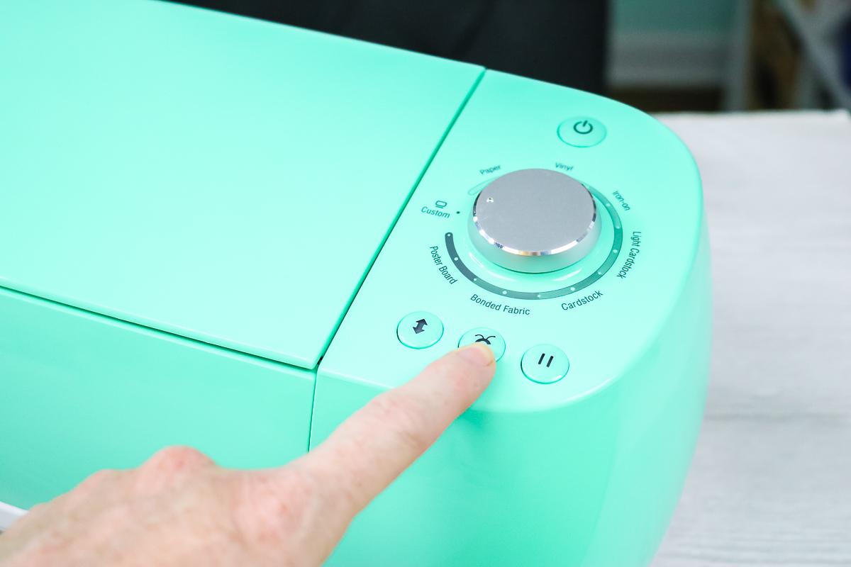 hitting the c button on a cricut machine