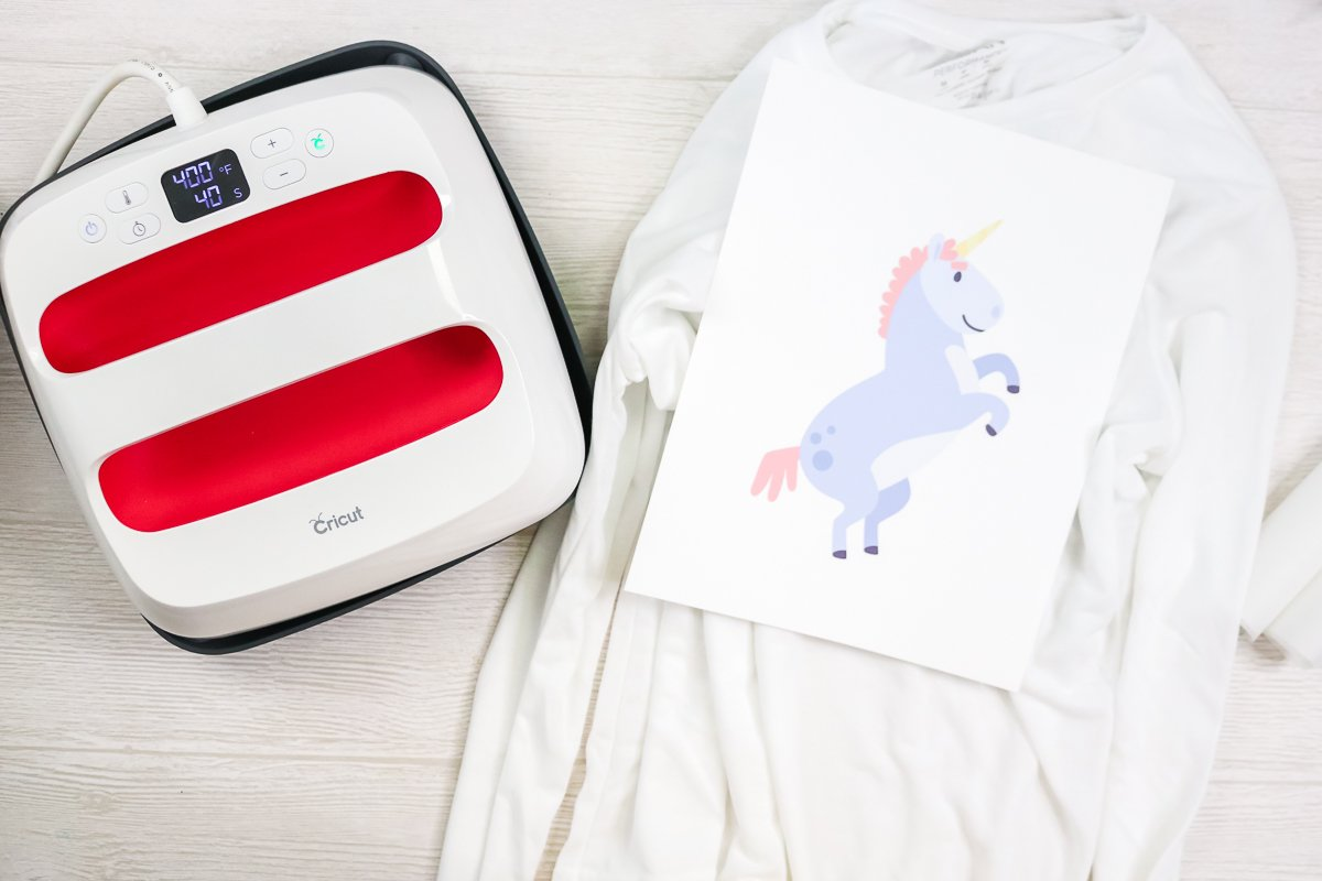 sublimation print on a shirt on a table