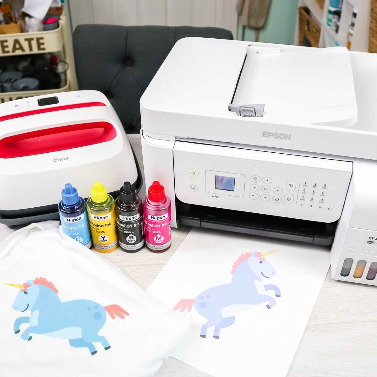 inkjet printer converted for dye sublimation