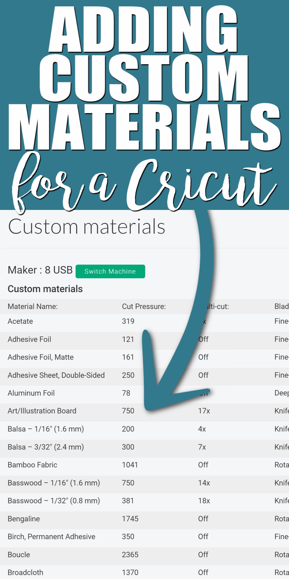 how to make a custom material setting