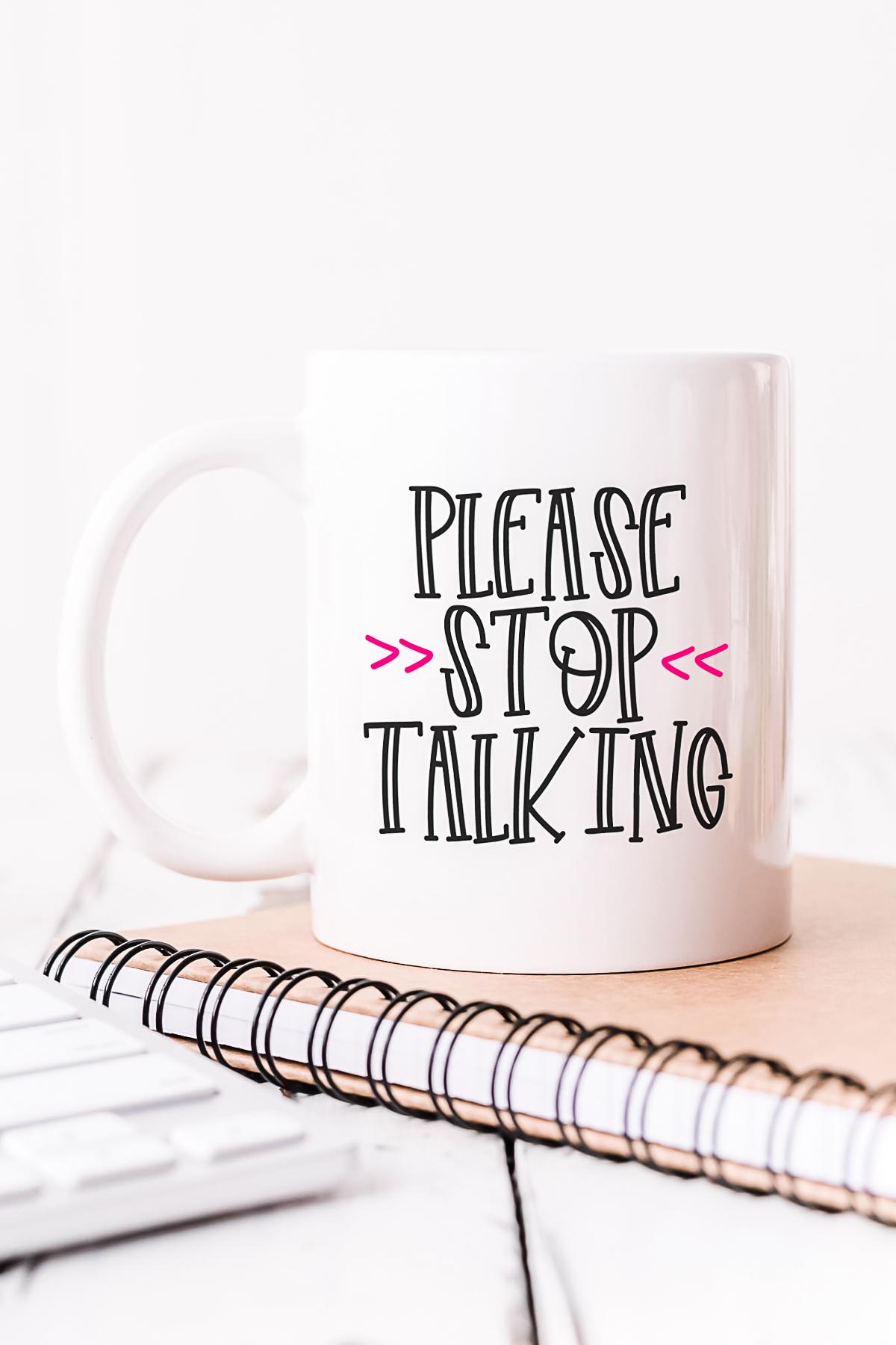 please stop talking svg file