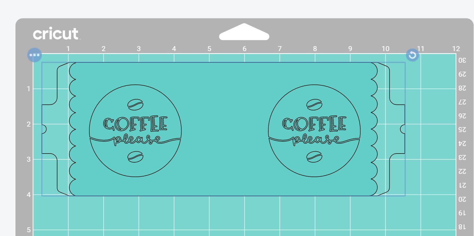 cricut mug cut on the mat