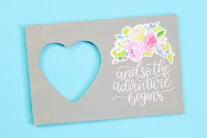 adding printable vinyl to a picture frame