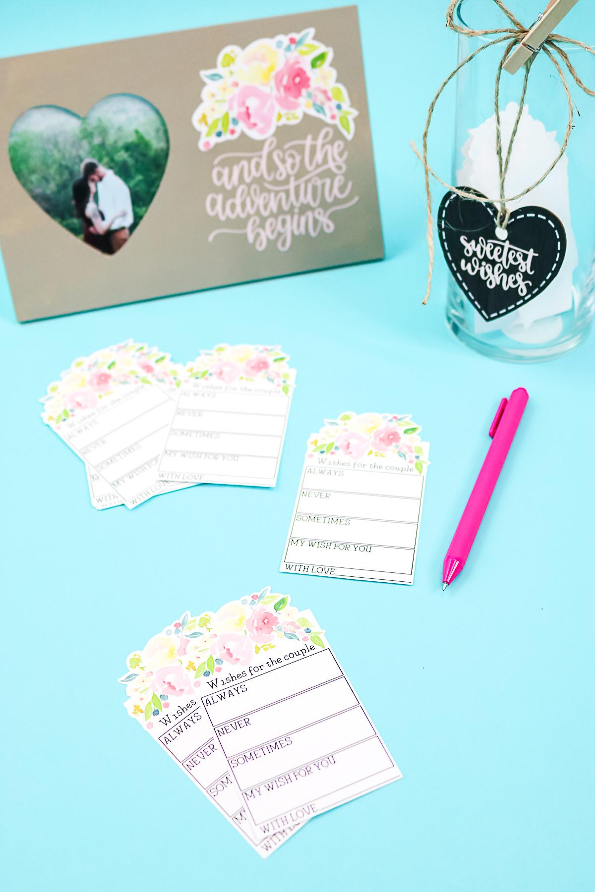 cricut wedding ideas