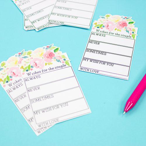 advice cards wedding guest book idea