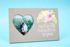 picture frame for a wedding