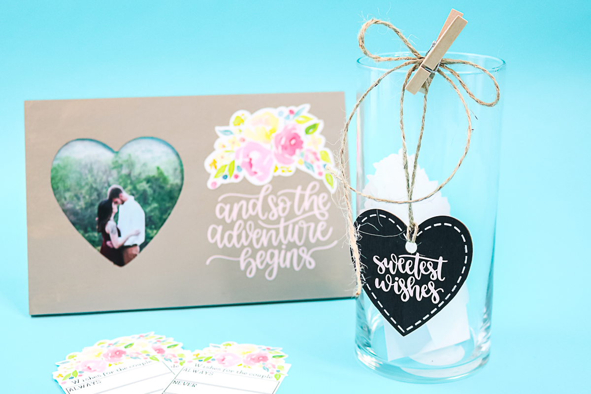 dollar store vase and a wedding set up