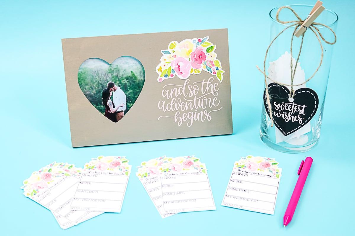cricut wedding display idea