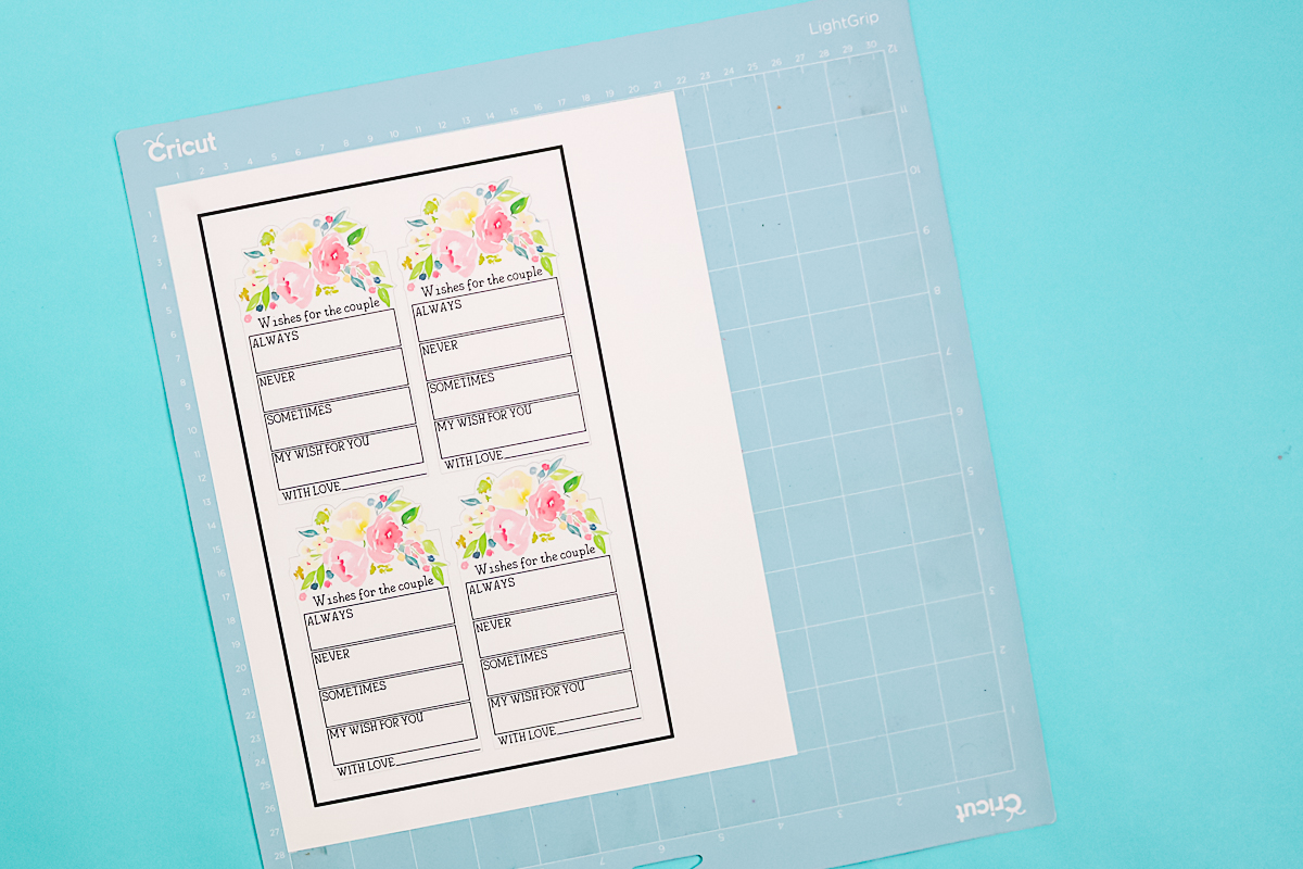 print then cut wedding crafts