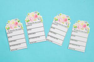 cricut wedding advice cards