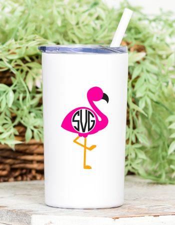 flamingo monogram frame