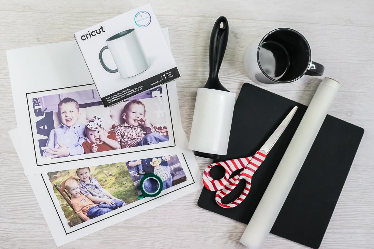 supplies to make photo mugs