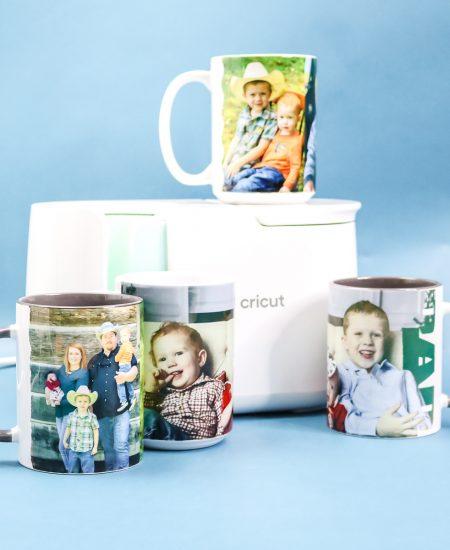 photo mugs made with the cricut mug press