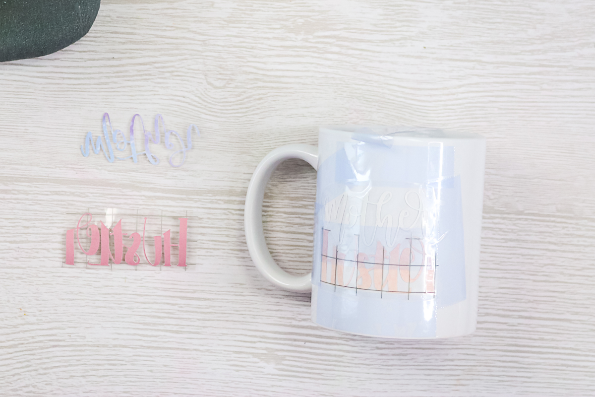 two colors of infusible ink on one mug