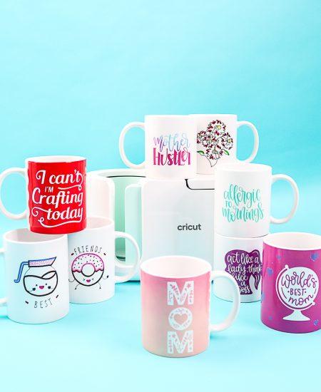 infusible ink mugs with the cricut mug press
