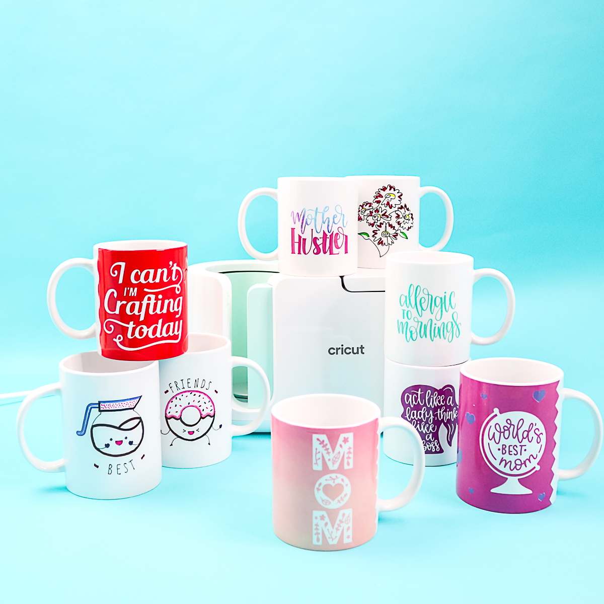 infusible ink mugs with the cricut mug press