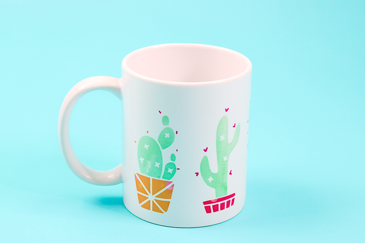 mug with cactus design