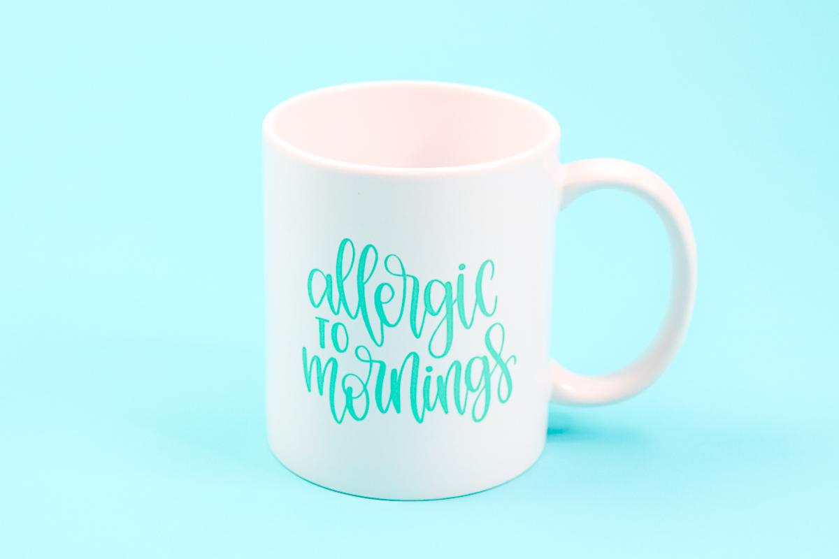 allergic to mornings mug