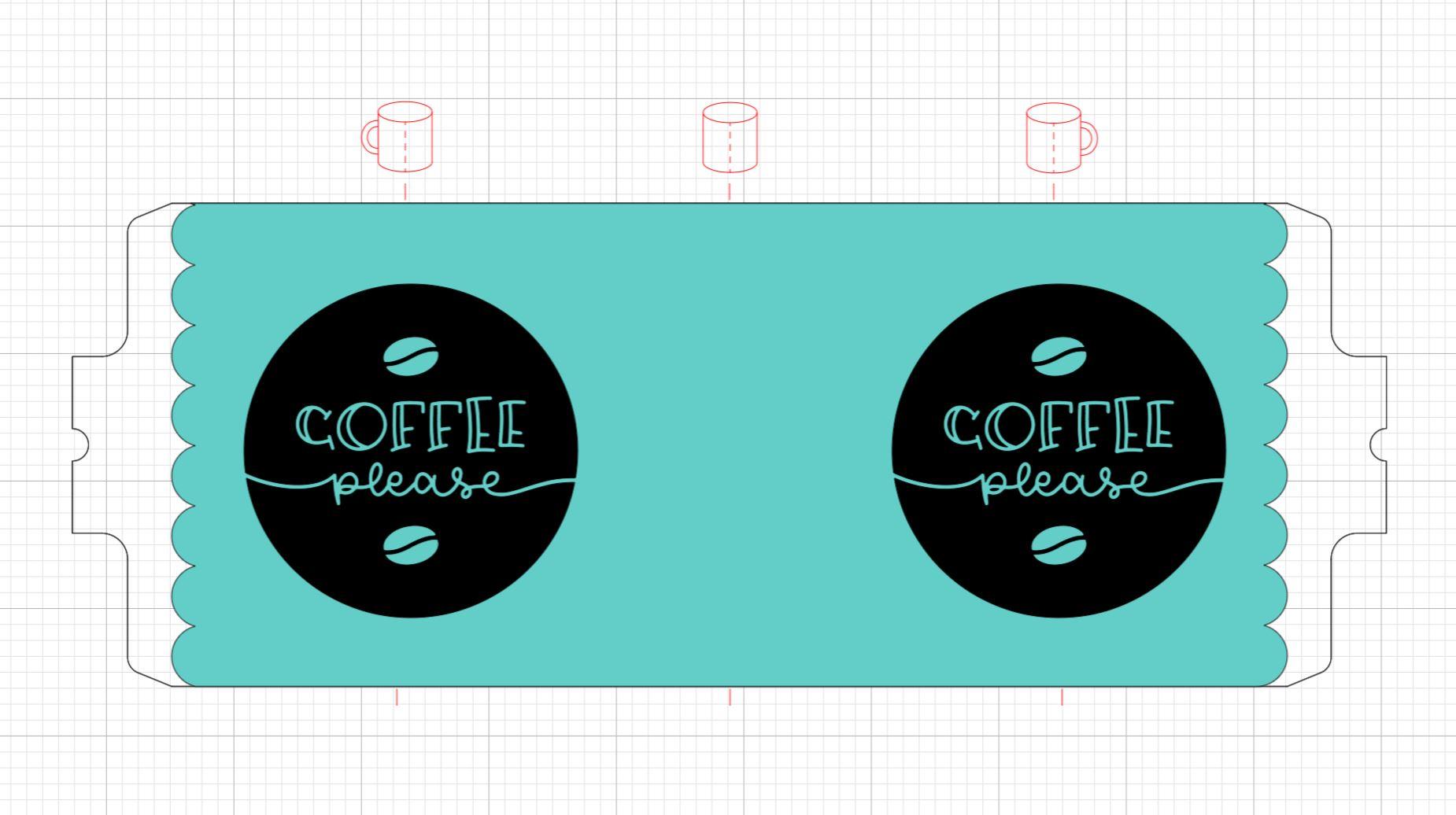 making a coffee mug design