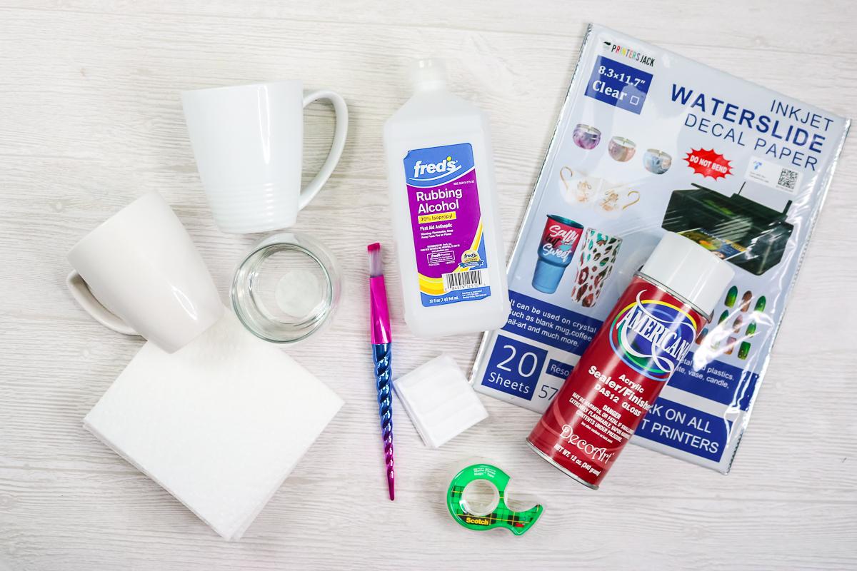 supplies to make waterslide decals