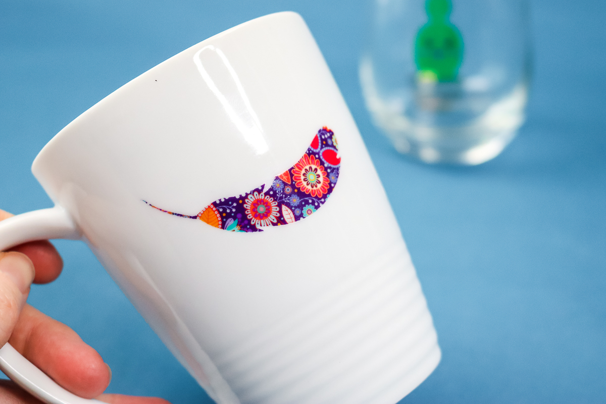 floral feather decal