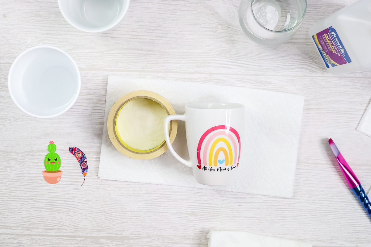 how to use waterslide paper on a mug