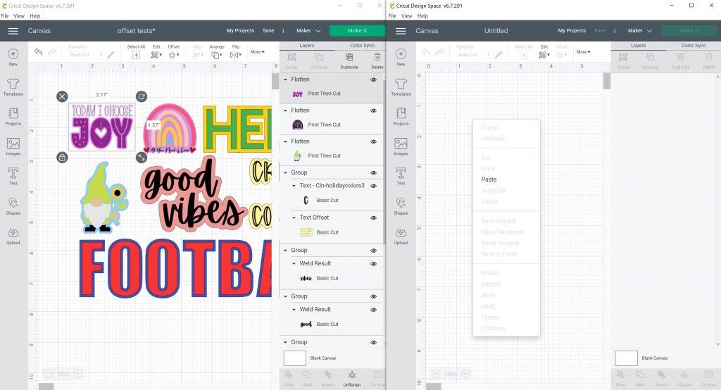 copy and paste cricut design space