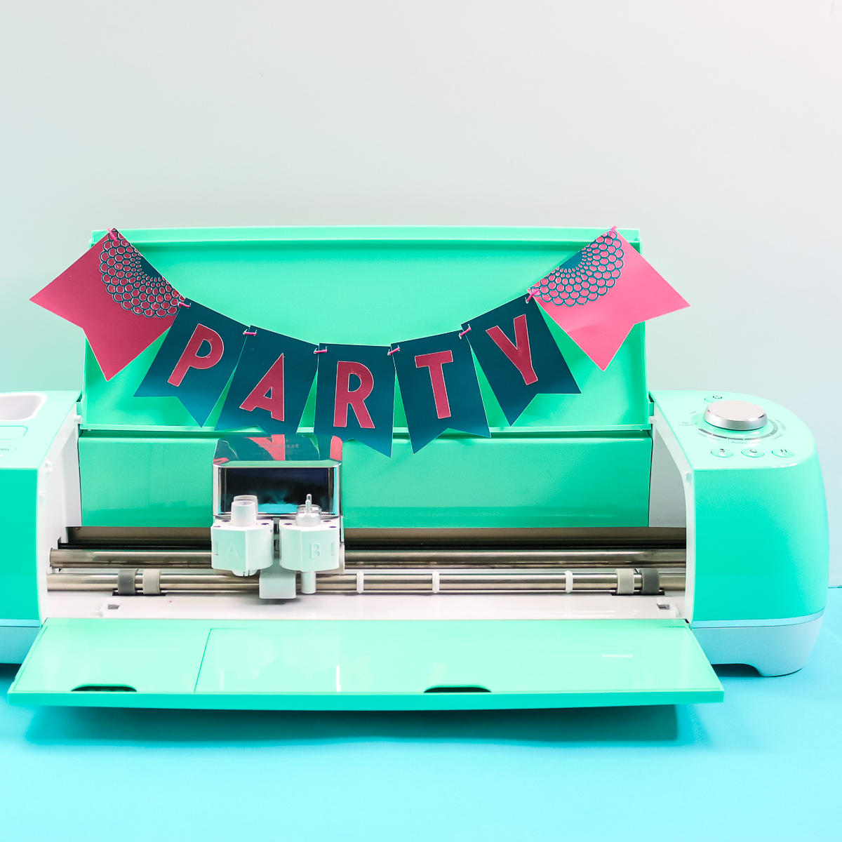 diy paper banner with a cricut
