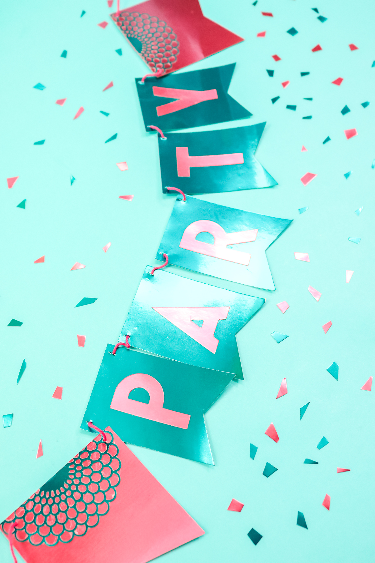 make a party banner with your cricut