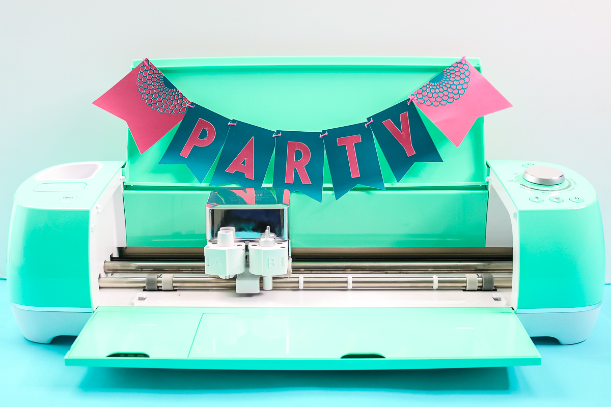 party banner made on a cricut