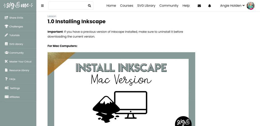 installing inkscape lesson