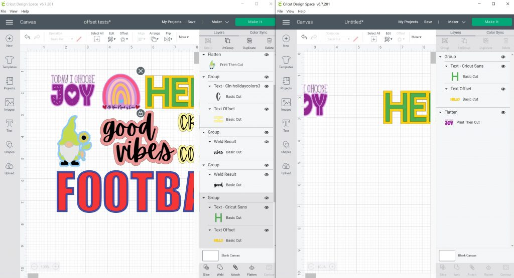 moving layers to another cricut project