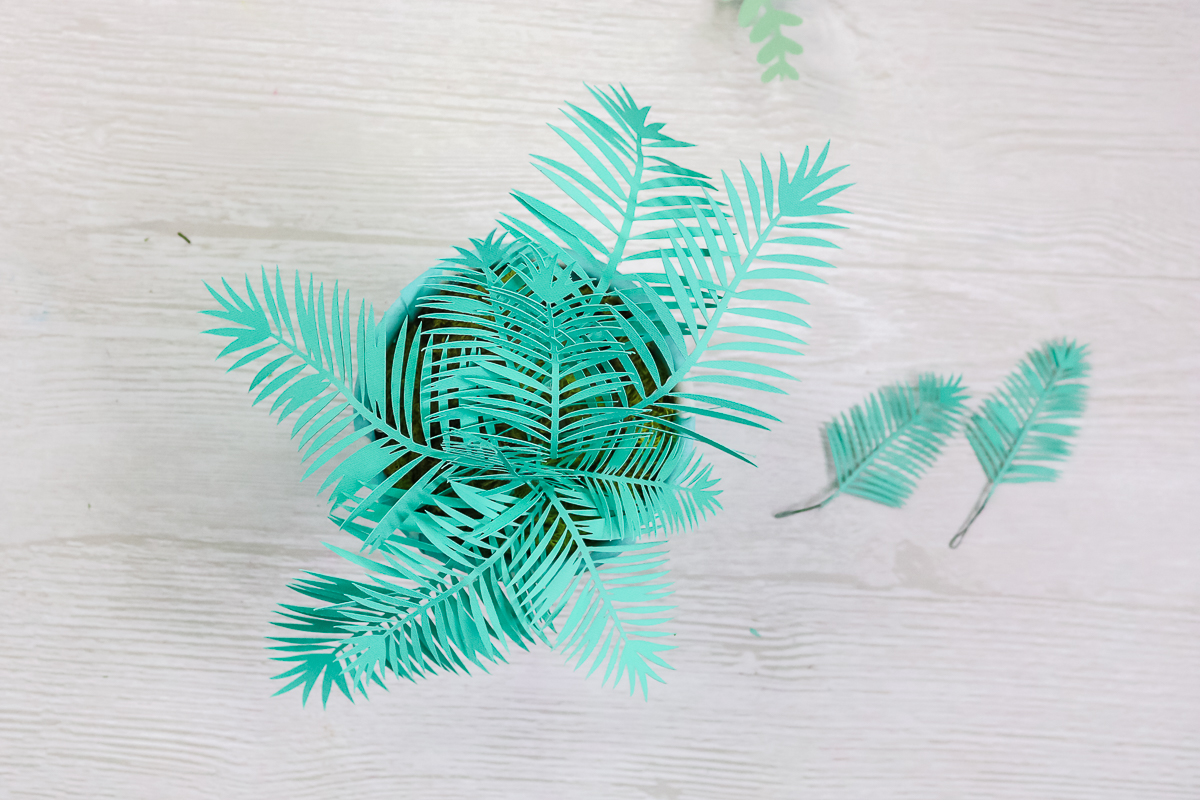 palm plant made from paper