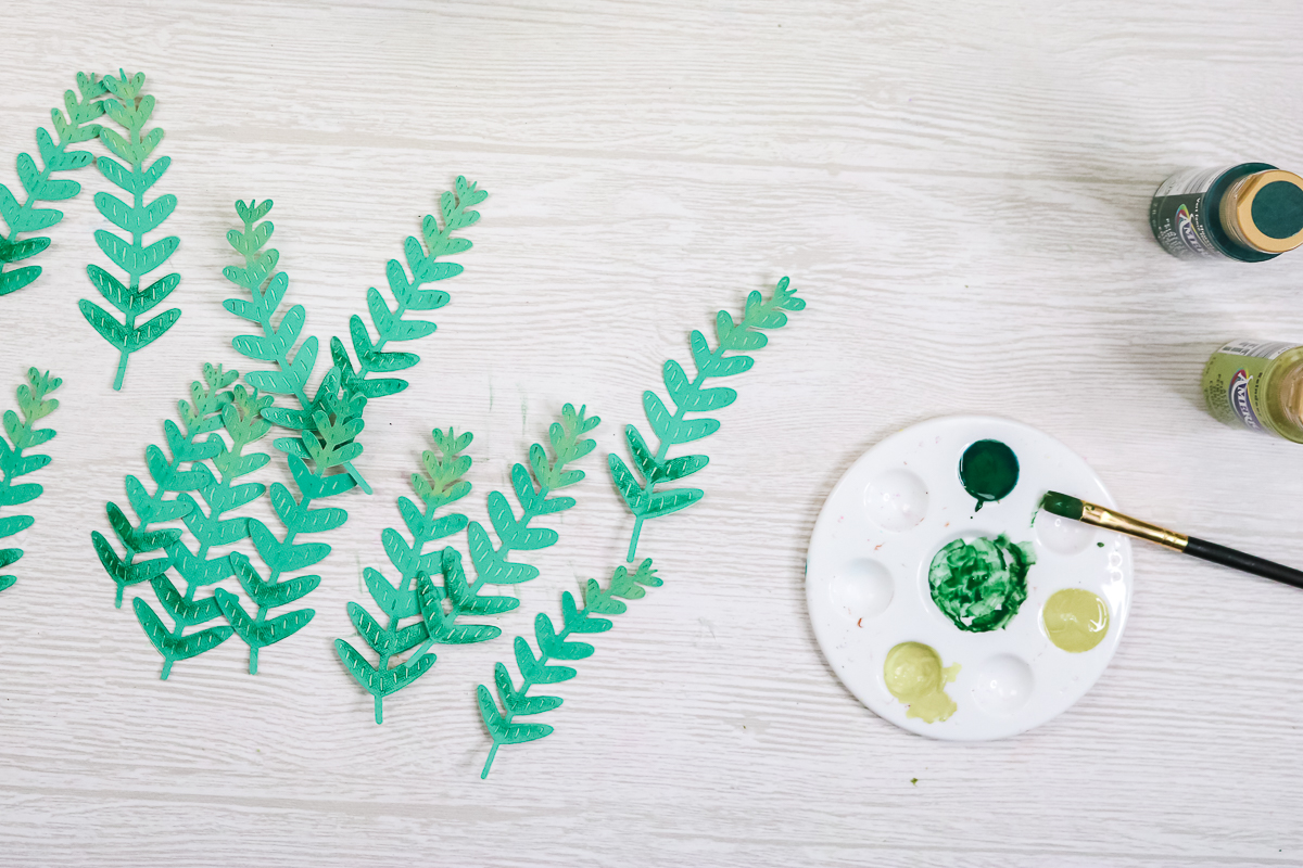 adding light and dark shading to paper crafts using paint