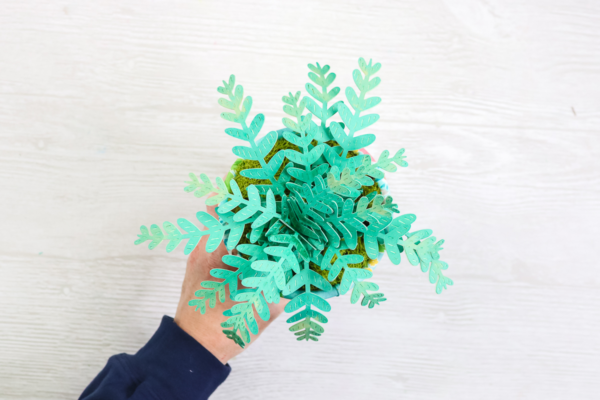 fern plant made from paper